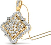WearYourShine By PCJ NA Plated 18K Diamond Gold Pendant