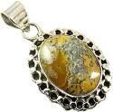 Miska Silver Designer Plated Silver Plated Jade Silver Pendant