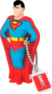 EMTEC Super Heroes 3D superman 8 GB  Pen Drive (Blue)