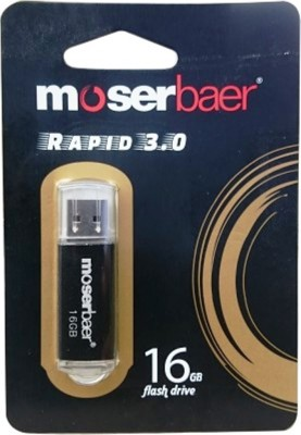 Moserbaer Rapid USB 3.0 16 GB  Pen Drive (Black)