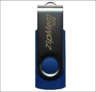 Zipmem Metallic Cover 32 GB  Pen Drive (Blue)