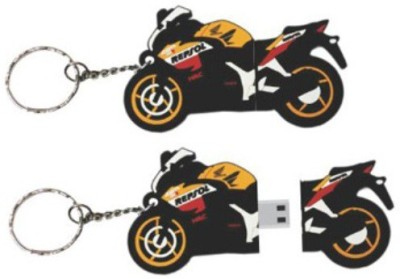 HONDA CBR250R SHAPED PEN DRIVE 8 GB  Pen Drive (Black)