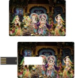Print Shapes Radha Krishna with gopi Credit Card Shape
