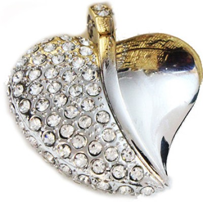 Schnell Heart Shaped Jewel 8 GB  Pen Drive (Silver)