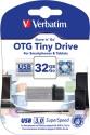 Verbatim Store'n' Go OTG Tiny USB 3.0 Drive 32  Pen Drive - Silver