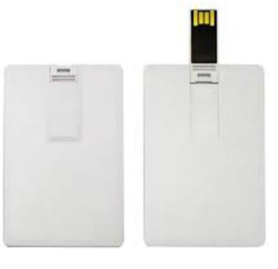 BrandAxis BrandAxis Credit Card Pen Drive 4GB 4 GB  Pen Drive (White)