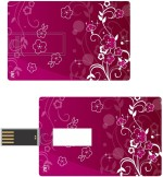 Print Shapes Red abstract flowers Credit Card Shape