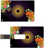 Print Shapes Colourfull Abstract Art design Credit Card Shape
