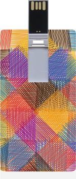 Garmor GRPd_287 Designer Printed Credit Card Shape 8GB Pendrive