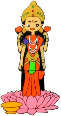 Zeztee God Lakshmi Cartoon Character Shape 16 GB  Pen Drive (Multicolor)