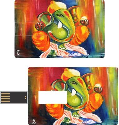 Print Shapes ganesha painting Credit Card Shape