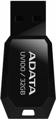 Adata Flash Drive UV100 32 GB  Pen Drive (Black)