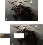 Print Shapes Dragon with Worrier Credit Card Shape