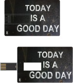 Print Shapes Today is a good day Credit Card Shape