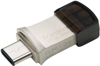 Transcend JetFlash 890S USB 3.1+Type-C 32 GB  Pen Drive (Silver)
