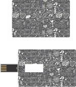 Print Shapes Typo Love Credit Card Shape
