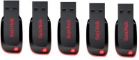 SanDisk Combo Of 5 Pcs 4 GB  Pen Drive (Black)