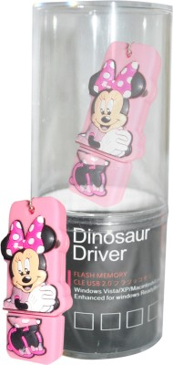 Dinosaur Drivers Mickey Pink 8 GB  Pen Drive (Multicolor)