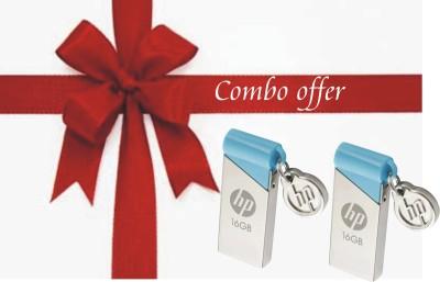 HP V215B COMBO OF 2 PCS 16 GB  Pen Drive (Silver)