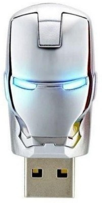 ENRG Iron Man Face Silver 16 GB  Pen Drive (Silver)