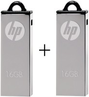 HP Combo Of 2Pcs 16 GB  Pen Drive (Silver)