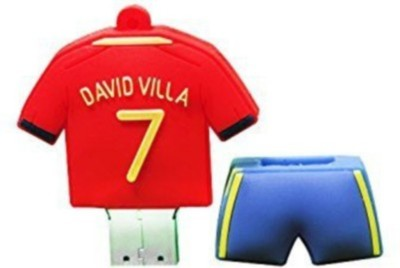 Yes Celebration David Villa 4 GB  Pen Drive (Red)