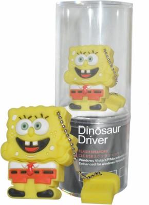 Dinosaur Drivers Sponge Bob 16 GB  Pen Drive (Yellow)
