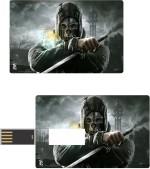 Print Shapes Worrier Skull with sword Credit Card Shape