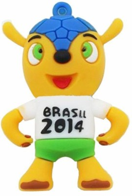 HTH Brasil 2014 Shape 8 GB  Pen Drive (Green)
