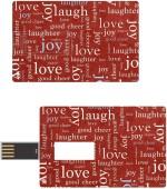 Print Shapes I love joy Credit Card Shape