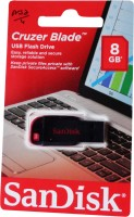 Sandisk Cruzer Blade Usb Flash Drive 8 GB  Pen Drive (Multicolor)