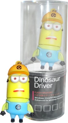 Dinosaur Drivers Minion 8 GB  Pen Drive (Multicolor)