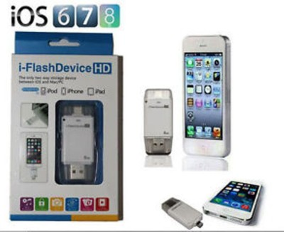 Pinglo i Flash Drive USB OTG Memory Stick 64 GB  Pen Drive (White)