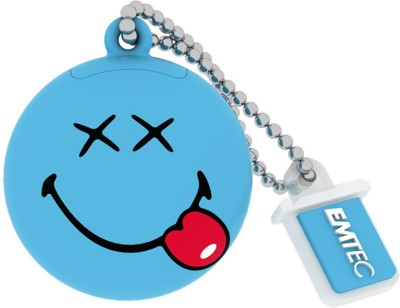 EMTEC Smiley's World 8 GB  Pen Drive (Blue)
