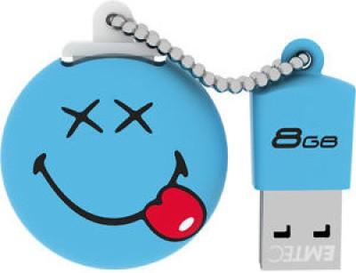 EMTEC Smiley's World 8 GB  Pen Drive (Blue)