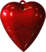Microware Red Plastic Heart Shape