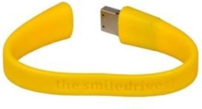 Smiledrive 16 GB Wristband Pen Drive (Yellow)