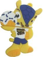 Microware 32 GB Fifa Football 2014 Mascot Shape Designer Fancy Pendrive