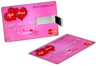 ZBEL WOS327-Valentine Credit Card 8 GB Fancy Pendrive (Pink)