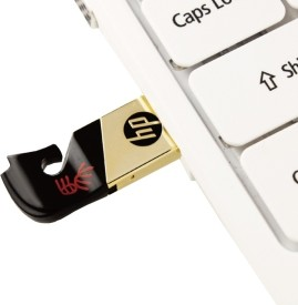 HP V219g 8 GB USB 2.0 Fancy Pendrive - Black & Gold