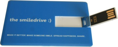 Smiledrive Credit Card Shaped 8 GB Pen Drive (Blue)