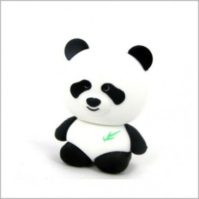 Smiledrive Cute Panda Shaped USB 8 GB Fancy Pendrive (Black)