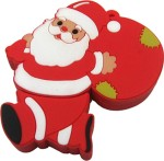 Microware Santa Claus With Gift Bag Shape