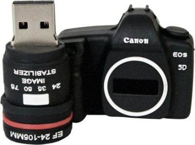 Microware Camera Shape 16 GB Pen Drive(Black)