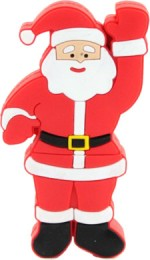 Microware Santa Claus Raising Hand Shape