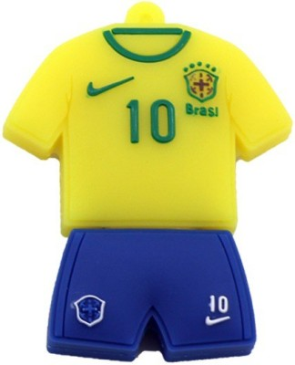 GeekGoodies Fancy Brazil Football Soccer Jersey 8 GB  Pen Drive (Yellow, Blue)