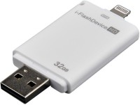 JT I Flash Device For Mobiles & Tabs 32 GB  Pen Drive (White)