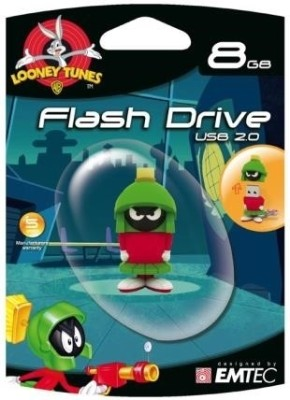EMTEC Looney Tunes Marvin Pendrive 8 GB  Pen Drive (Green)