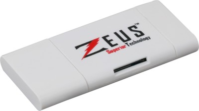 Zeus i-Flash Drive for i-Phones, i-Pads, i-Pods, Mac, Pcs - Expandable to 8GB/16GB/32GB 32 GB  Pen Drive (White)