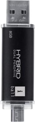 iBall Hybrid 2.0 8 GB  Pen Drive (Black)